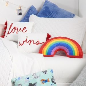 Other - LGBTQ LOVE WINS DECORATIVE RAINBOW PILLOW SET 3